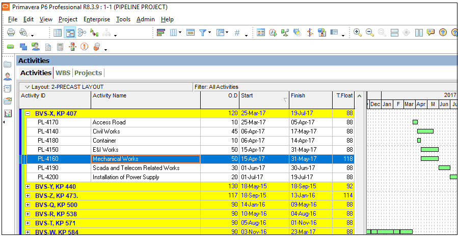 Assigning Expenses in Primavera P6 Figure 1