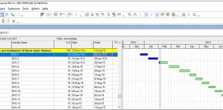 Creating Four Week Look Ahead Schedule in P6 Figure 1