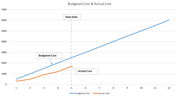 Earned Value Management-Cost Graph