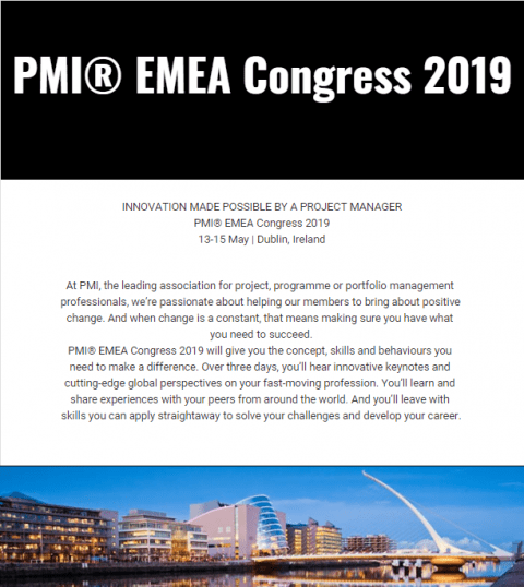 PMI EMEA Congress 2019 IRELAND