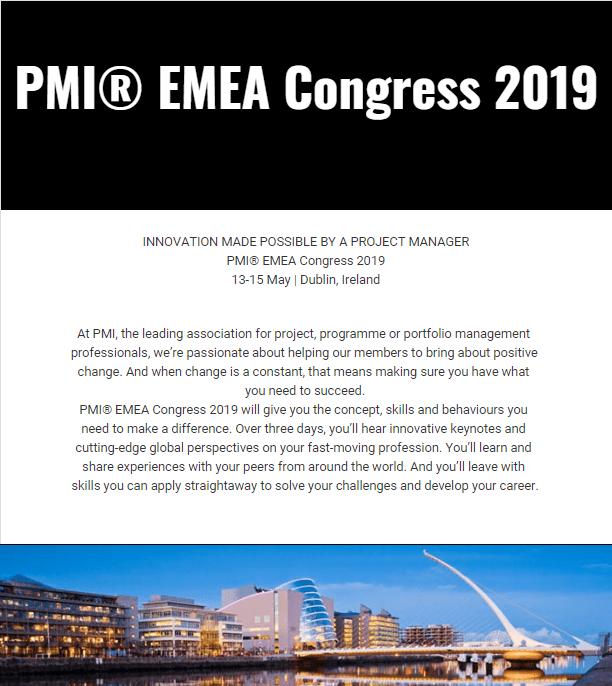 PMI EMEA Congress 2019 IRELAND