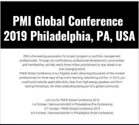 PMI Global Conference 2019 Philadelphia, PA, USA