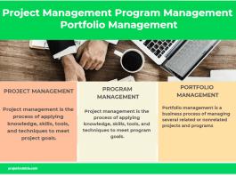 Project Management Program Management Portfolio Management infographic
