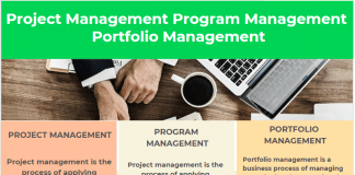 Project Management Program Management Portfolio Management infographic