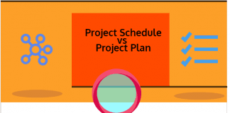 Difference between Project Schedule and Project Plan infographic