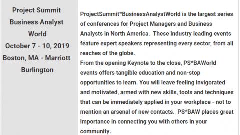 Project Summit Business Analyst World Boston