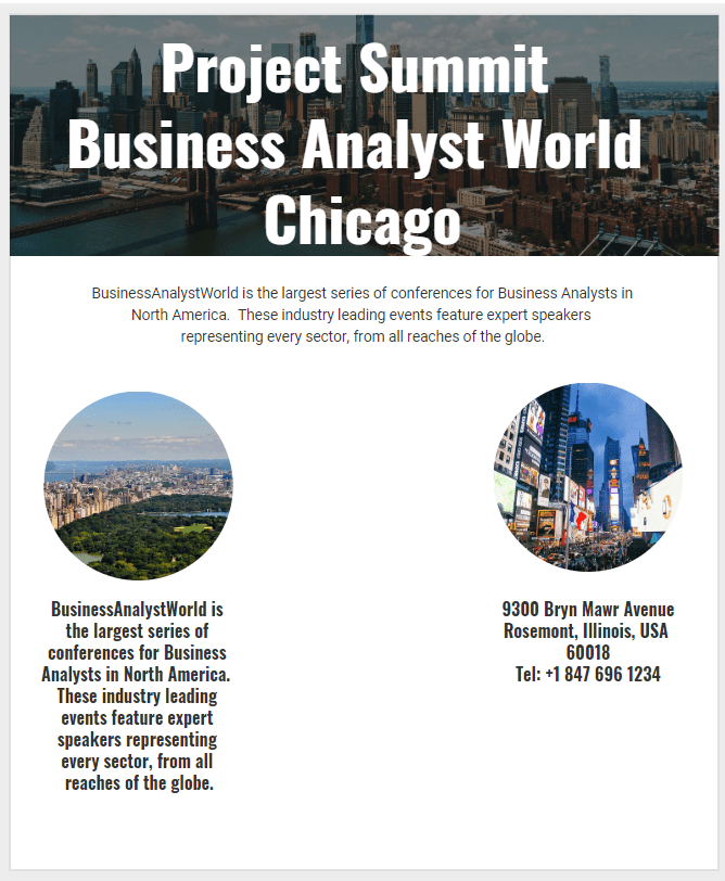 Project Summit Business Analyst World Chicago