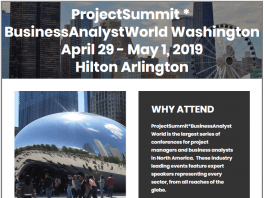 Project Summit Business Analyst World Washington