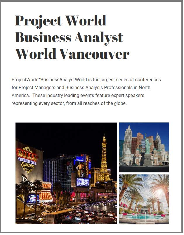 Project World Business Analyst World Vancouver