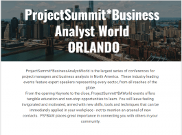 ProjectSummit Business Analyst World - Orlando