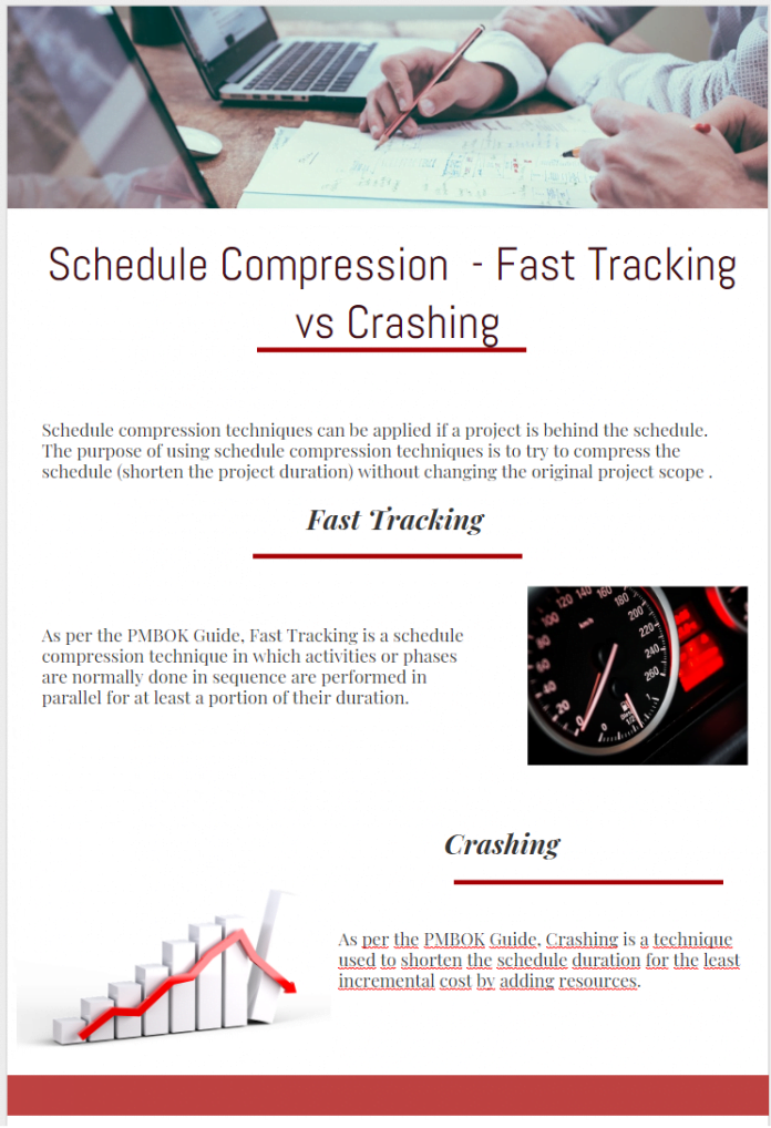 Schedule Compression Fast Tracking vs Crashing
