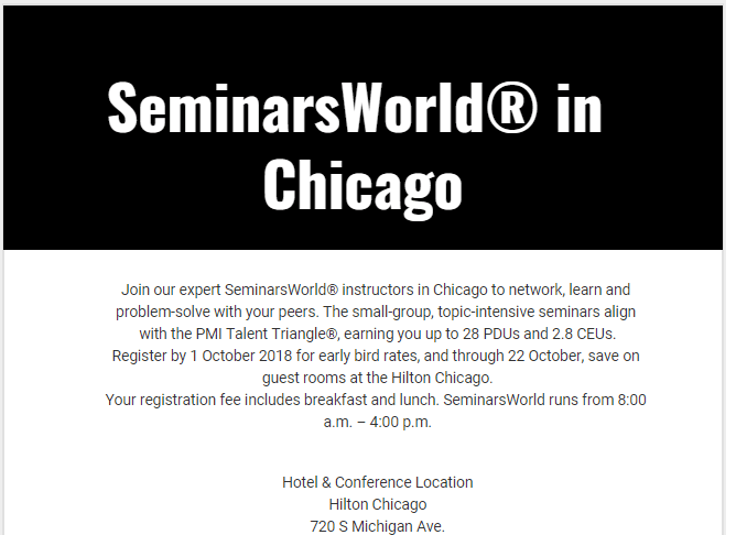 SeminarsWorld in Chicago