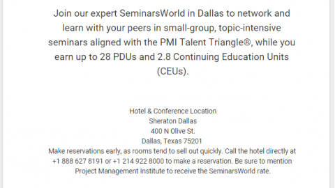 SeminarsWorld in Dallas