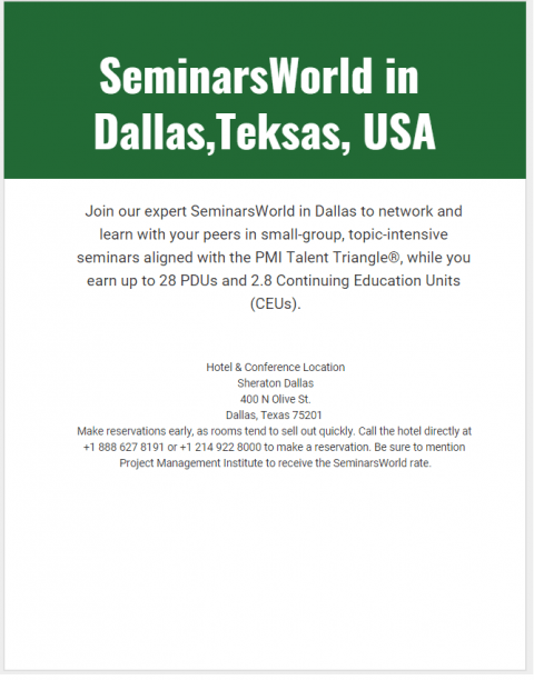 SeminarsWorld in Dallas