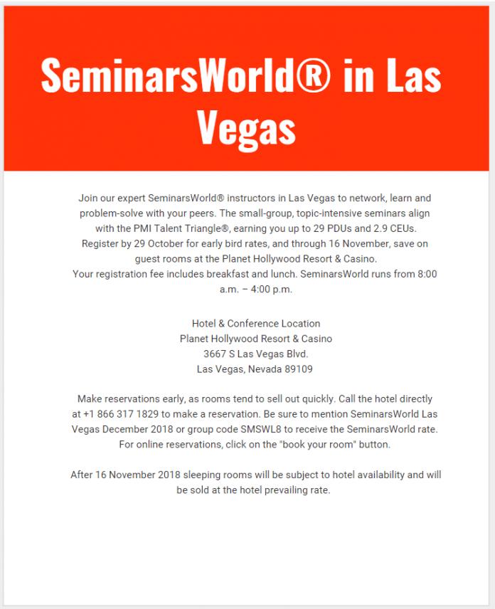 SeminarsWorld in Las Vegas