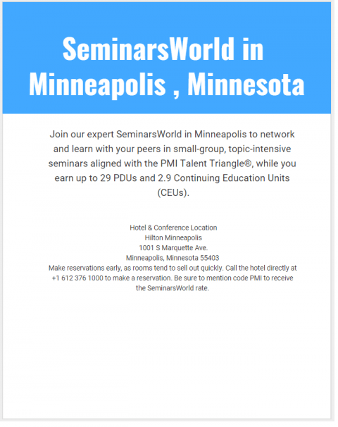 SeminarsWorld in Minneapolis