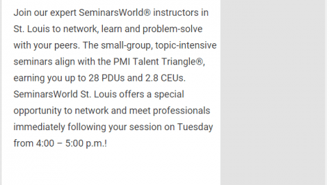 SeminarsWorld in St Louis