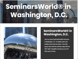 SeminarsWorld in Washington DCSeminarsWorld in Washington DC