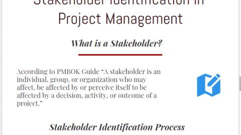 Stakeholder identification in Project Management infographic