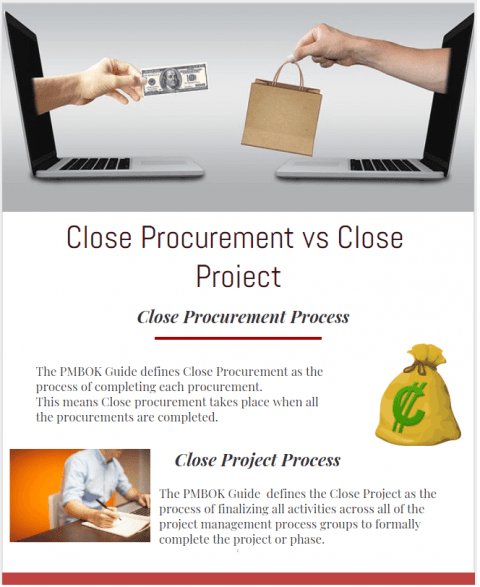 close procurement vs close project