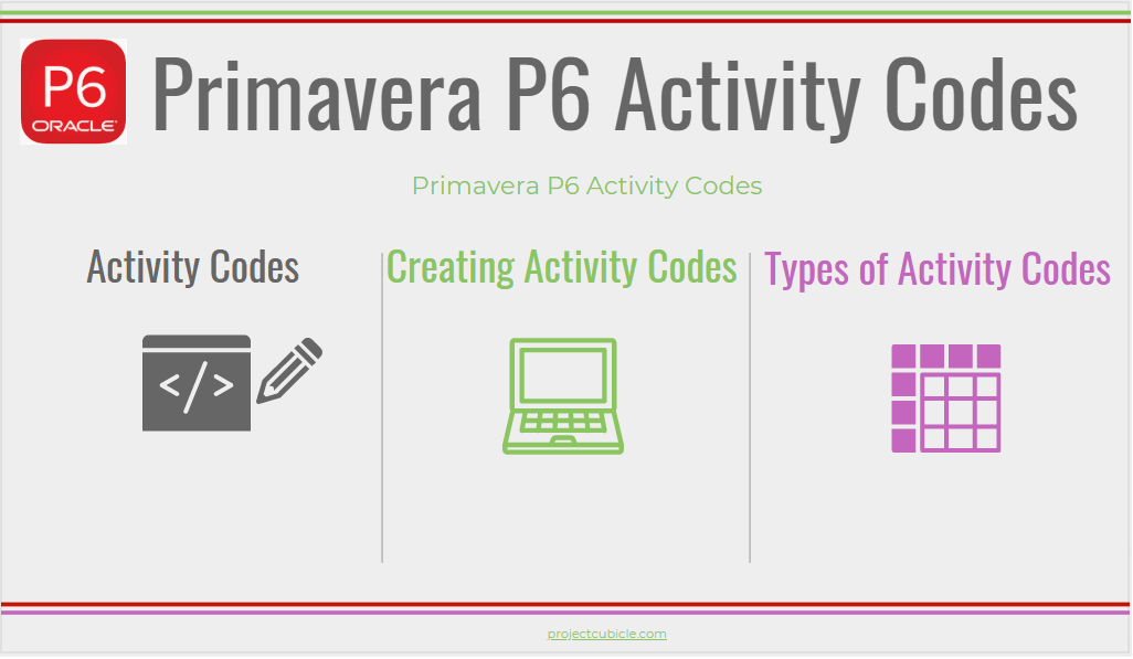 primavera p6 activity codes