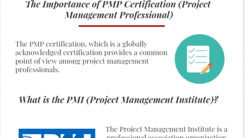 Benefits of PMP Certification (Project Management Professional) PMP