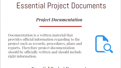 Project Documentation ,10 Essential Key Project Documents infographic