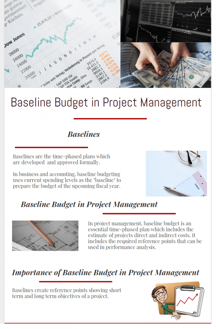 importance of baseline budget and budget tracking infographic