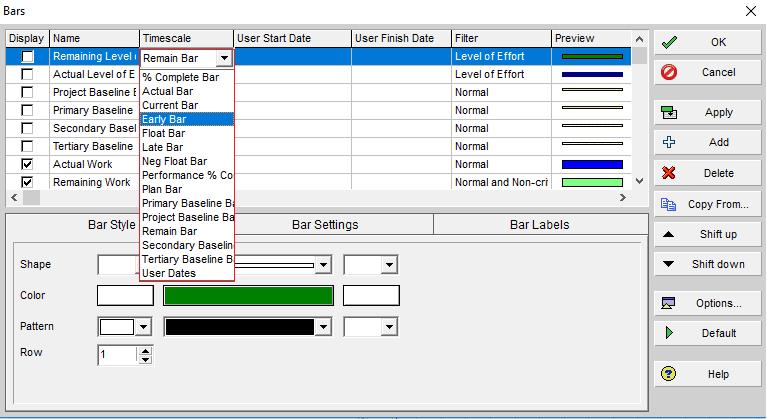 Figure 3 Timescale Options