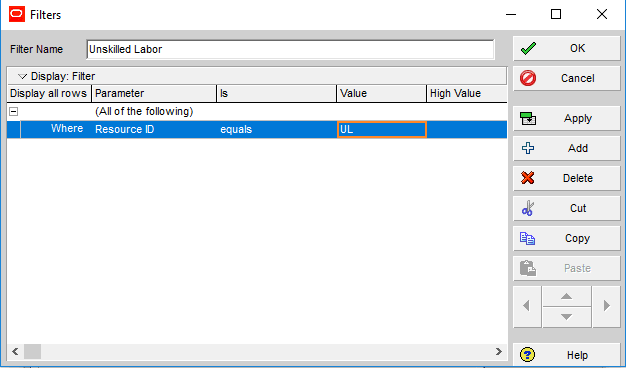Figure 7 Filtering ParametersFigure 7 Filtering Parameters