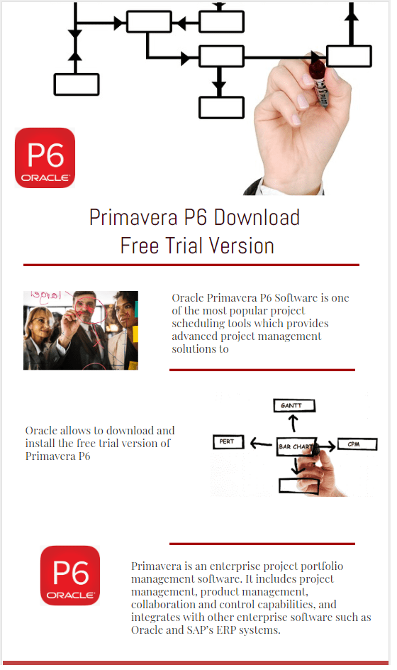 Oracle Primavera P6 Software Download Free Trial Version