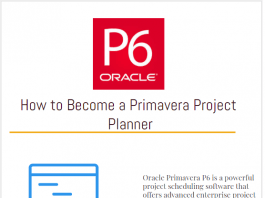 How to Become a Primavera Project Planner Scheduler Project Scheduling Software