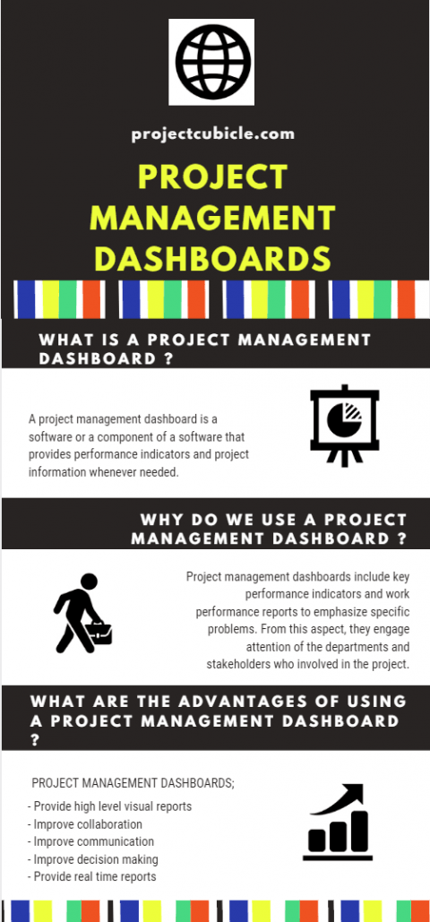 project management dashboard infographic