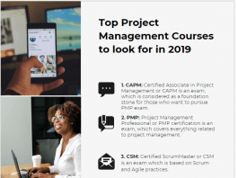 Project management courses and certifications , project management certificate programs and lists
