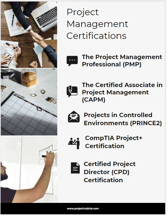types of project management certification programs