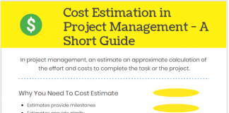Cost Estimation in Project Management infographic