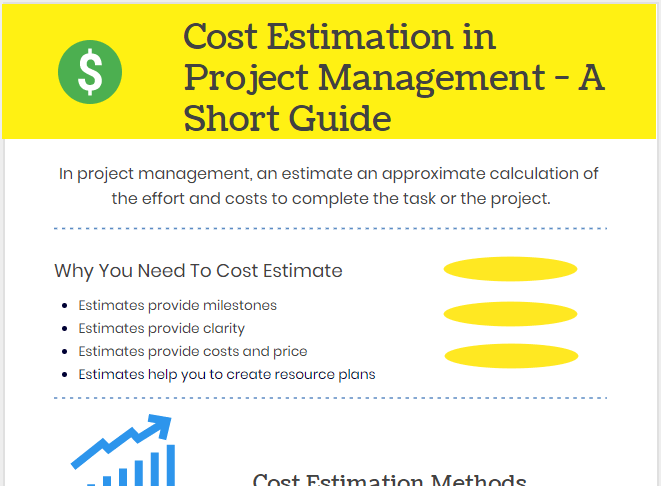 importance of cost estimation process, types and techniques of cost estimation in project management.