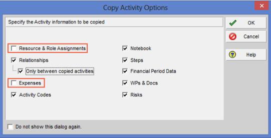 Copy Activity Options