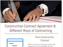 Construction Contract Agreement & Ways of Contracting