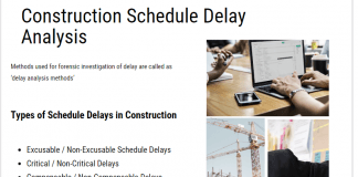 Construction Schedule Delay Analysis