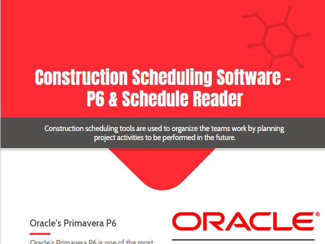 Construction Scheduling Software - P6 & Schedule Reader
