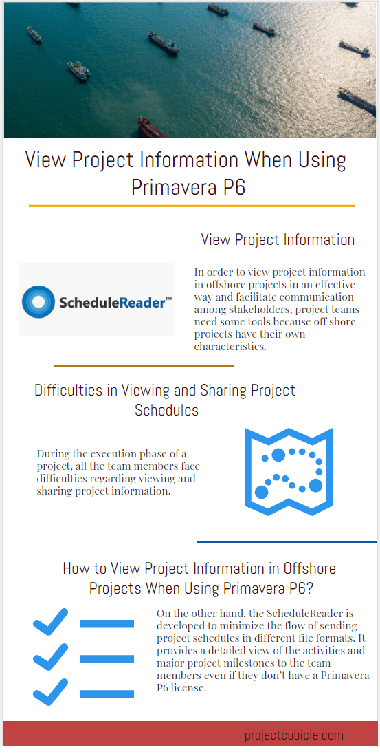 Schedule Reader View Project Information When Using Primavera P6 ScheduleReader