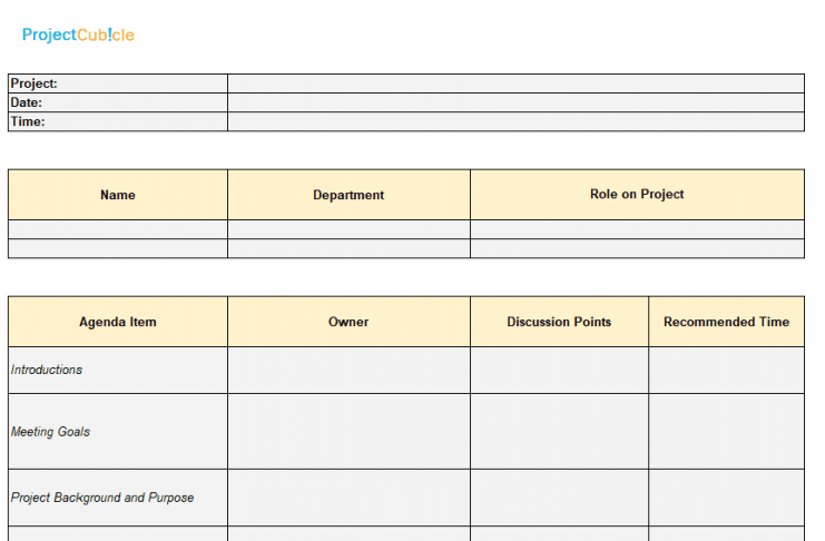 How to create a project kickoff meeting agenda template