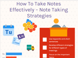 How To Take Notes Effectively – Note Taking Strategies