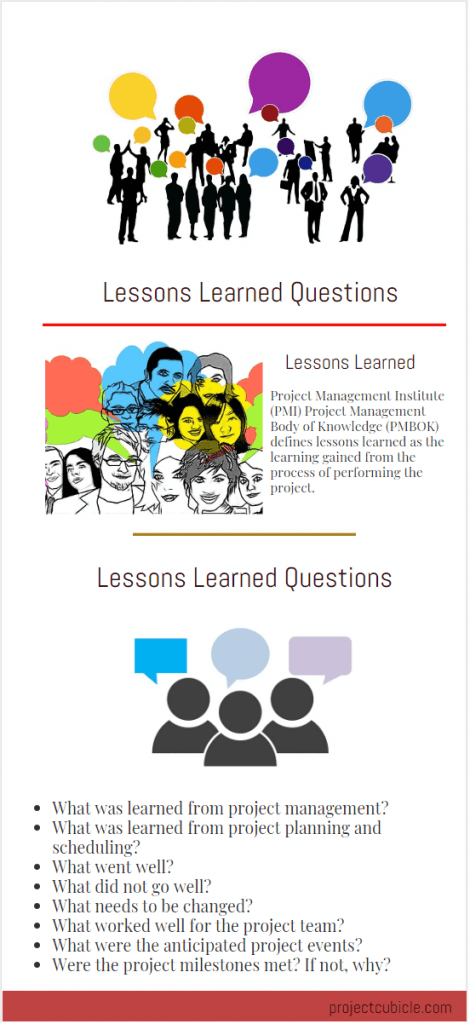 lessons learned example questions template