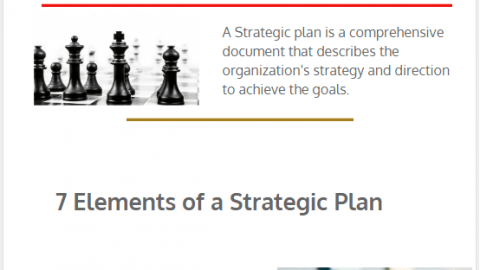 7 Elements of a Strategic Planning