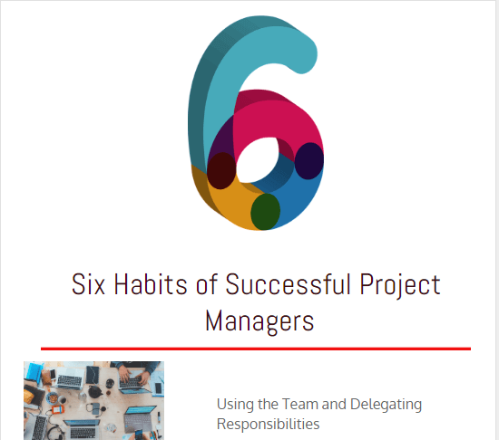 Six Habits of Successful Project Managers, What Makes a Project Manager Successful?