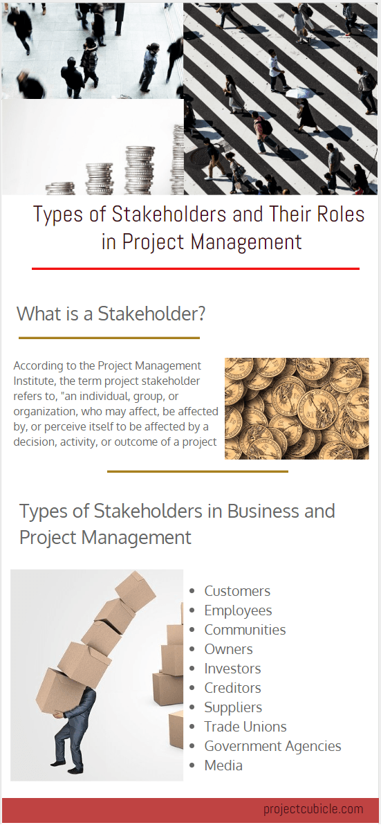 different types of stakeholders and their roles in project management