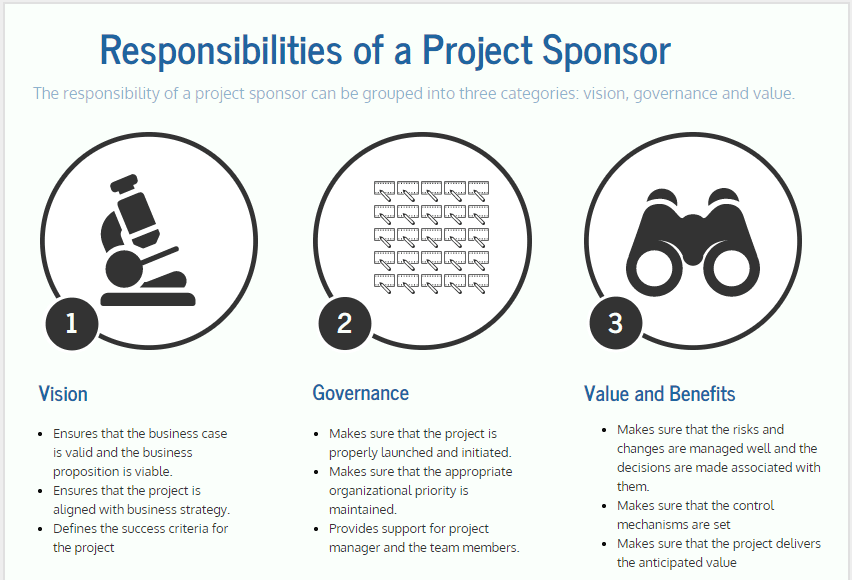 responsibilities of project sponsor
