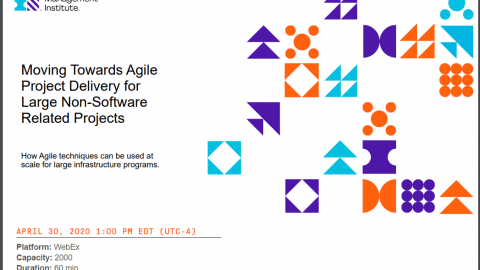Agile Project Delivery for Large Non-Software Related Projects webinar
